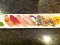 Tonight's nigiri sampler. Lookin' good!